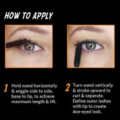 "Mascara Tricks using Benefit's ""They're Real!"" - I actually find that if you do the wiggle trick with this mascara, it comes out to be WAY too much. Beauty Secrets, Beauty Hacks, Beauty Tips, Beauty Ideas, Beauty Make Up, Hair Beauty, Beauty Stuff, Best False Eyelashes, 3d Fiber Lash Mascara"