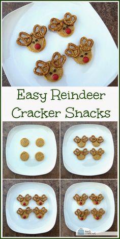 Make Easy Christmas Reindeer Cracker Snacks