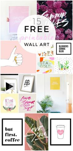 Decorate your home on the cheap with these beautiful printable wall art pieces. Simply click, print, and hang... and you've got yourself a fancy wall. Easy!