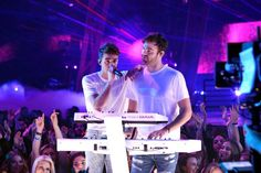 Chart Watch: Chainsmokers Equal Record Set by Bee Gees Beatles  The Chainsmokers this week becomes the first group or duo to have three songs in the top 10 on the Hot 100 at the same time since Bee Gees achieved the feat in the spring of 1978 with three hits from Saturday Night Fever. Something Just like This a collaboration with Coldplay vaults from No. 56 to No. 5 in its second week. Paris dips from No. 6 to No. 7 in its seventh week. The megahit Closer (featuring Halsey) drops from No. 5…