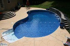 small backyard inground pools | Inground Vinyl Lined Pools - - swimming pools and spas - baltimore ...