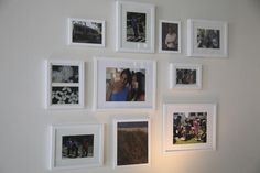 Wall of frames! Special Memories - Mom Caves: Sweet In-Home Retreats Just For You on HGTV
