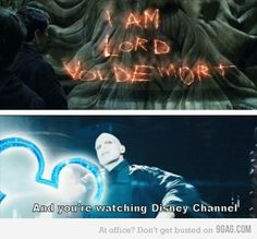 "Harry Potter << This is perfect, and I love the Disney Channel meme with Loki as well, but there also needs to be a Severus Snape one. ""I'm the Half-Blood Prince, and you're watching Disney Channel. Harry Potter Humor, Images Harry Potter, Fans D'harry Potter, Harry Potter World, Harry Potter Tumblr Funny, Harry Potter Stuff, Potter Facts, Funny Harry Potter Pictures, Harry Potter Villians"