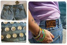 Studded shorts/Rockaway Beach  www.quenotecueste.blogspot.com