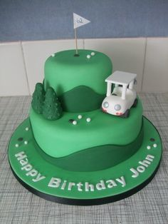If you know how to use fondant, this might not be too hard. Well, except for the golf cart!