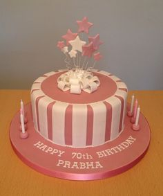 70th Birthday Cakes Cake Parties Princess Ideas