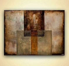 """Original modern abstract art Geometrical abstract painting 48"""" by Osnat #Abstract"""