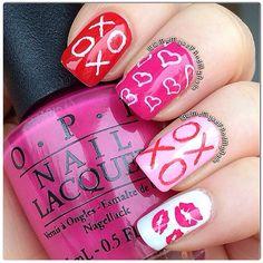 valentine by memyselfandmynails #nail #nails #nailart