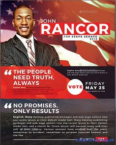 Election Flyer Template Microsoft Word Free Political