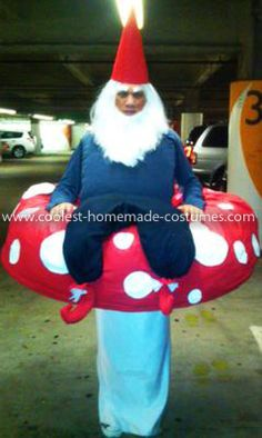 Coolest Garden Gnome On a Mushroom Costume 7: I originally came on to this site as inspiration for a Halloween costume. I have a graphic design background, so making my own costumes is a challenge
