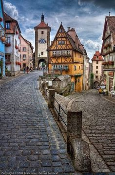 Germany -fairy tale town of Rothenburg, This is of the one of the best preserved medieval cities in Bavaria, one of my favorite spots in Europe.