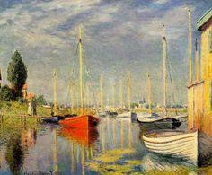 Bateaux de plaisance à Argenteuil by Claude Monet, 1875.