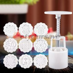 Mond Kuchen Backform Hand Druck 50g Runde 4/6/8 briefmarken DIY Tools Weiß in              Feature:                         100% Marke neue                  Es macht eine 50g Mondkuchen              aus Backen & Pastry Werkzeuge auf AliExpress.com | Alibaba Group