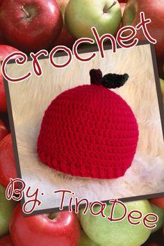 Crochet By: TinaDee  Apple hat