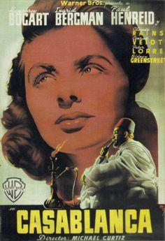 "Original poster of the Spanish premiere of ""Casablanca"", 1942"