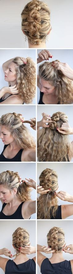 The French Roll Twist and Pin | Click Pic for 12 DIY #Wedding #Hairstyles for Medium Hair | Easy Hairstyles for Long Hair: