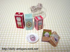 ミニチュア香水瓶の箱