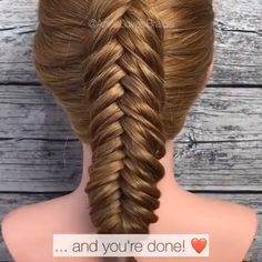 fishtail braid, want to have a try? Amazing work from 💕🥰 Braids videos Dutch fishtail braid tutorialDutch fishtail braid, want to have a try? Amazing work from 💕🥰 Braids videos Dutch fishtail braid tutorial Dutch Fishtail Braid, Fishtail Braid Tutorials, Fishtail Braid Styles, Double Braid, Hair Tutorials, Natural Hair Styles, Short Hair Styles, Hair Upstyles, Braids With Extensions