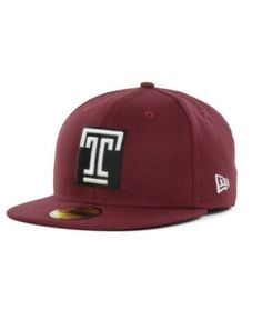 New Era Temple Owls 59FIFTY Cap - Red 7 3/8