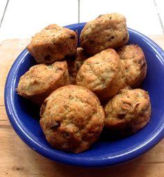 Gluten Free Chocolate Poppy Zucchini Muffins, yum!  Made using Wholesome Chow's Lemon Poppy Muffin Mix.