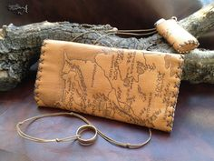 "Genuine leather ""Middle Earth's Map""  Tobacco Pouch Limited Edition by TobaccoPouch on Etsy"