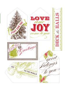 Printable Vintage gift tags