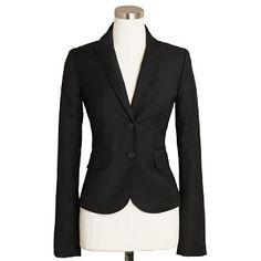 Women's blazers - suiting jackets - Two-button jacket in Super 120s - J.Crew - StyleSays