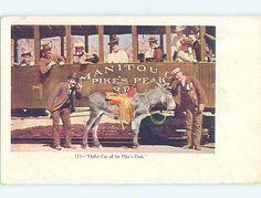 Div-Back TRAIN RIDE TO PIKES PEAK Manitou & Colorado Springs Colorado CO HM6896