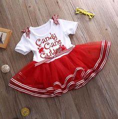 PRE ORDER - Sweet As Candycane Christmas Dress -  Girls Christmas Outfit - Girls Christmas Dress - Christmas Romper - Baby Christmas Outfit - Christmas Dress