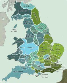 Map of Britain kingdoms AD 550. Clickable