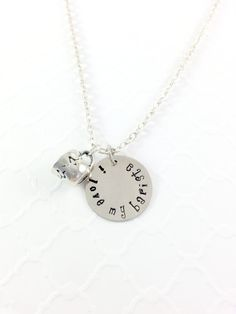 Isn't it time to show your Barista how much you love them! This disk will help you tell them how much their service helps you out first thing every morning!  $25 https://www.etsy.com/listing/228506443/barista-silver-necklace-i-love-my?ref=shop_home_active_20