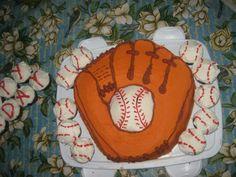 Cake I made for my nephews birthday baseball theme