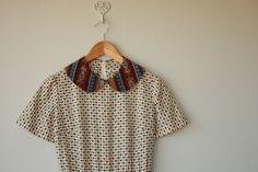 60s dress / 1960s dress / peter pan collar by CustardHeartVintage, $65.00