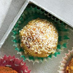 Bourbon-Pecan Pound Cake Truffles | We take a favorite Southern dessert and turn it into bite-size Bourbon-Pecan Pound Cake Truffles. | SouthernLiving.com