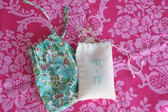 sew fabric favor bags