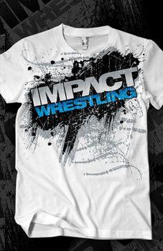 IMPACT WRESTLING | ShopTNA; great deals, TNA WRESTLING; men's fashion; women's fashion; great gift idea for men & boys; great gift idea for women & girls; knockouts, pro wrestling, legends of wrestling; logo; white t-shirt