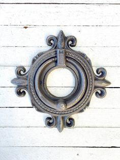 Ornate Cast Iron Metal Ring Rustic Door KnockerIron by TheIronNook