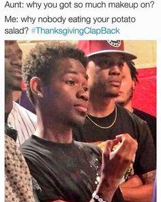 Lol lol. #Thanksgivinghumor #thanksgivingclapbacks by msmelodymartin