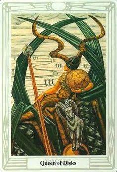 Đã có Lá Queen of Disks – Aleister Crowley Thoth Tarot bài tarot