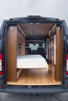 30 Amazing Image of Minivan Camper Conversions To Inspire Your Build & Adventure. After you have decided which motorhome or caravan you wish to utilize for your holidays, it's ideal to request a reservation. Though the motorhome isn. Cargo Van Conversion, Van Conversion Interior, Sprinter Van Conversion, Camper Van Conversion Diy, Campervan Bed, Campervan Interior, Camping Diy, Camping Hacks, Outdoor Camping
