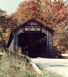The oldest covered bridge still in use in Michigan, Whites Bridge crosses the Flat River Between Lowell and Belding Michigan. And it's a hell of a tube trip!! I love this bridge :) have had pics taken by it many times :)
