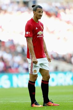 Zlatan Ibrahimovic of Manchester United in action during The FA Community Shield…