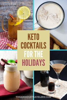 Looking for some great low-carb, keto cocktails for the holidays? We've got you covered! Keto Diet Drinks, Keto Cocktails, Low Carb Drinks, Quick Keto Breakfast, Keto Breakfast Smoothie, Mixed Drinks, Fun Drinks, Alcoholic Drinks, Rum Recipes