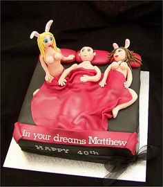 'Playboy Mansion' Birthday Cake by Custom Cake Designs, via Flickr