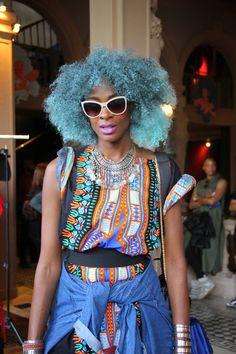 www.cewax.fr aime ce look afropunk, ethno tendance, style ethnique. Dans le même style, visitez la boutique de CéWax : http://cewax.alittlemarket.com/ #Africanfashion, #ethnotendance -AFROPUNK PARIS
