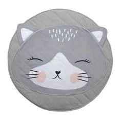 Mister Fly Cat Playmat - Great for tummy time! #oliverthomas #misterfly #playmat #baby #nursery #cat #decor