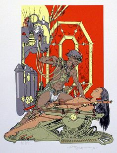 Mastermind of Mars by Michael William Kaluta, 1995 Glimmer Graphics