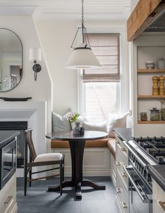 Kitchen renovation by Jacquelyn Clark of the Lark & Linen blog features Emtek's Freestone Pulls in Satin Brass finish.