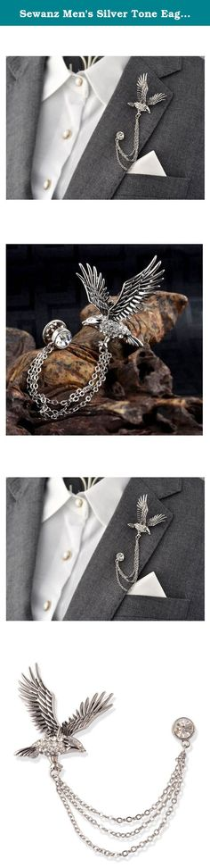 Sewanz Men's Silver Tone Eagle Lapel Stick Brooch Pin Tassel Chain for Suit. Sewanz Product name: Lapel Stick Brooch Pin Tassel Chain for Suit Color: Silver Size: 2.5x3cm Weight: 12g Material: Alloy Package list: 1 PCS brooch pin Sewanz is the Sewanz is jewelry brand registered in the United States.We create meaningful, eco-conscious jewelry and accessories to empower the light in you. We share a passion for the wellbeing of our planet, our communities, and our individual paths. Sewan...