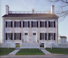 The Shaker Center Family Dwelling House in the Shaker village of Pleasant Hill, Kentucky. Beautiful, restrained architecture. Photo by the magnificent architectural photographer Henry Plummer from his book 'Stillness & Light' from Indiana University Press.